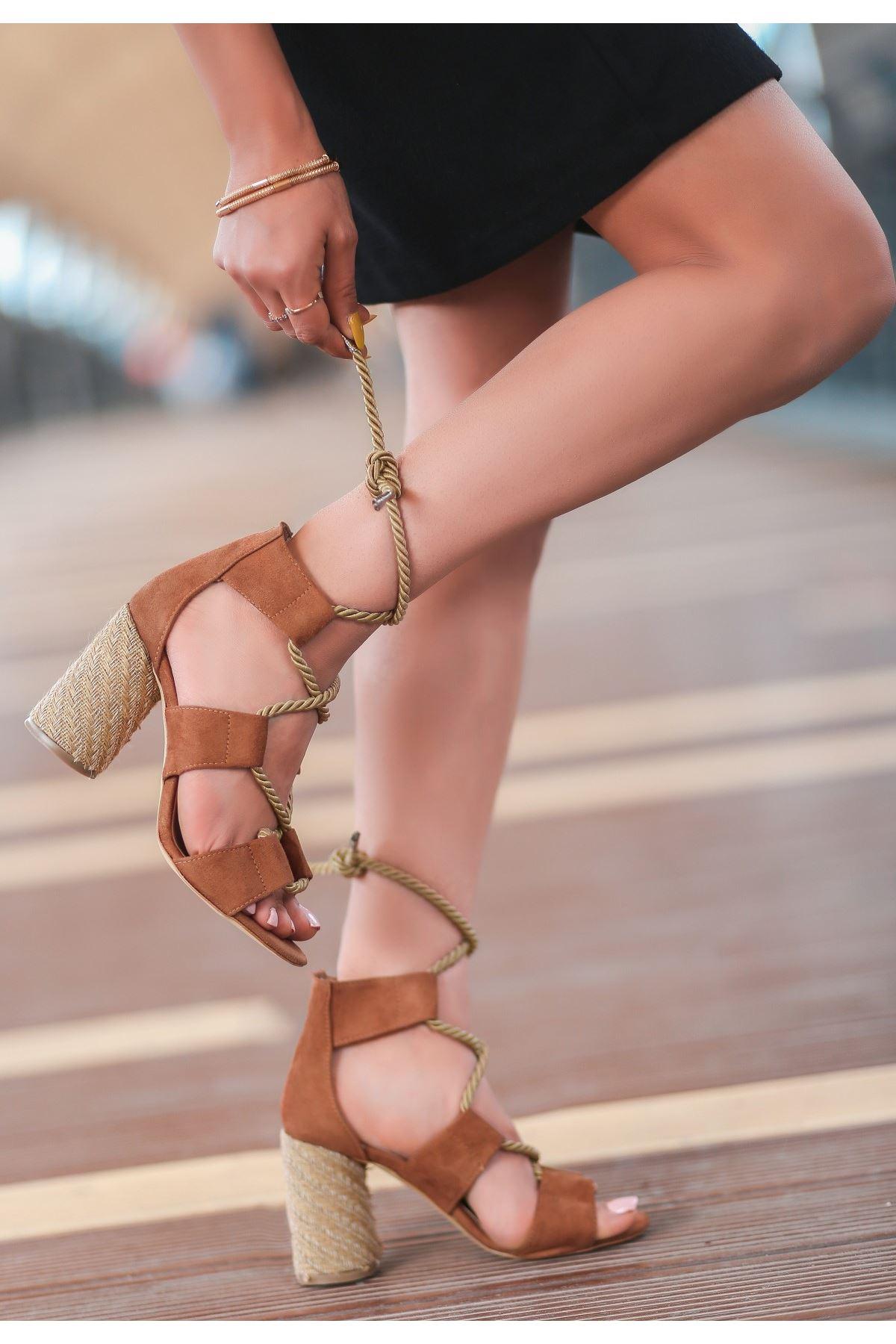 Esto Taba Süet Topuklu Ayakkabı