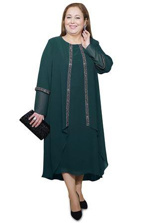 Kadın Zümrüt Yeşil Abiye Taş Detay