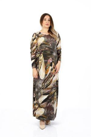 Kadın Haki Büyük Beden Elbise